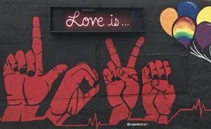 Healthy Relationships BC Love Is Mural Sex Therapy